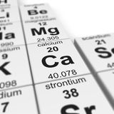 Tabelle von elements_Calcium Lizenzfreie Stockfotografie