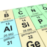 Tabelle von elements_Silicon Stockbild