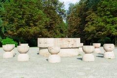Tabellen av tystnad - Masa tacerii Arkivfoto