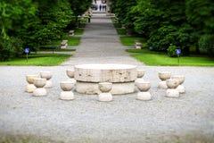Tabellen av tystnad Targu Jiu Rumänien Fotografering för Bildbyråer