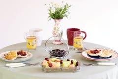 Tabellen-Brunch, Frühstück Stockbild