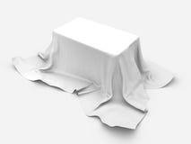 Tabellen 3d framför på vit bakgrund Royaltyfri Foto