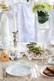 Tabellen eingestellt für Hochzeit Lizenzfreies Stockbild