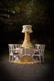 Tabellen-Einstellung für Hochzeit Stockbild