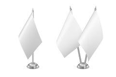Tabellen-Flaggensatz des Vektors kleiner, lokalisiert auf weißem Hintergrund Lizenzfreie Stockfotos