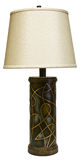 Tabellen-Lampe mit Farbton Stockfoto