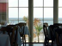 Tabellen mit einer Ansicht Stockfoto