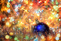 Tabellen 2016 (neues Jahr, Weihnachten) in den hellen Lichtern Lizenzfreie Stockfotos
