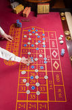 Tabellen-Roulette lizenzfreie stockfotos