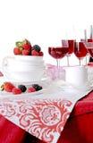 Tabellen ställde in för ett händelsedeltagare- eller bröllopmottagande Royaltyfria Bilder