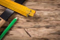 tabellen tools trä Royaltyfri Foto