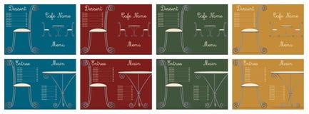 Tabellen-u. Stuhl Menüs Vektor Abbildung