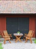 Tabellen und Stühle Lizenzfreie Stockbilder