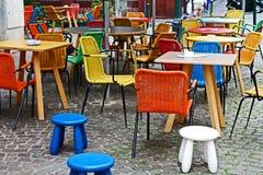 Tabellen und Stühle Lizenzfreies Stockfoto