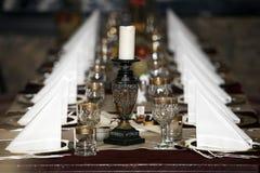 Tabellenanordnungsrestaurant Stockfoto