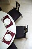 Tabelleneinstellung für Abendessen Lizenzfreie Stockfotos
