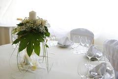Tabelleneinstellung für eine Hochzeit Stockbilder