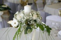 Tabelleneinstellung für eine Hochzeit Stockfoto