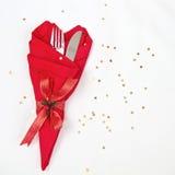 Tabelleneinstellung für Weihnachten Lizenzfreie Stockfotos