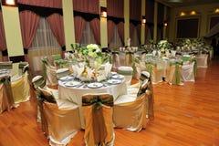 Tabelleneinstellung - Hochzeit Lizenzfreies Stockbild