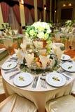 Tabelleneinstellung - Hochzeit Lizenzfreie Stockfotografie