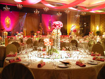Tabelleneinstellung und -dekoration Stockfotos