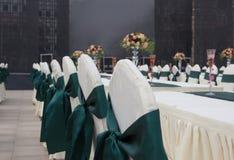 Tabelleneinstellungen für wedding Gäste lizenzfreies stockfoto