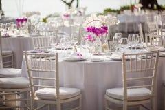 Tabeller för en utomhus- händelse Royaltyfri Foto