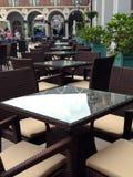 Tabeller i kafé Royaltyfri Fotografi