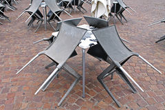 Tabeller och stolar Arkivbilder