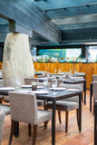 Tabeller på mestisrestaurangen i Santiago Chile Fotografering för Bildbyråer