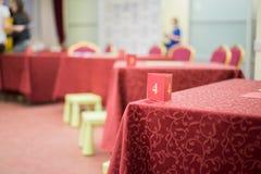 Tabellerna är klara för leken mellan lagen royaltyfria bilder