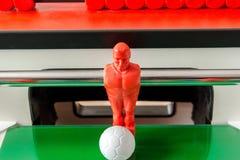 Tabellfotboll och boll Arkivbild