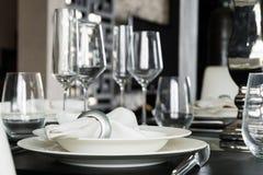 Tabellgarnering för måltid Royaltyfri Foto