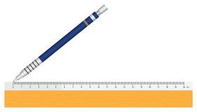 Tabellierprogramm und Bleistift Lizenzfreie Stockfotos