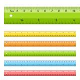 Tabellierprogramme in den Zentimeter und in den Inches Stockbilder