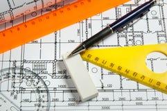 Tabellierprogramme und Pläne Stockbilder