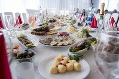 Tabellinställning för ferie, restaurang Royaltyfria Foton