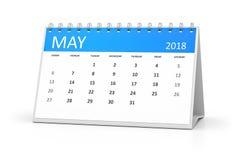 Tabellkalender 2018 kan vektor illustrationer