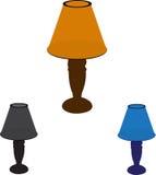Tabelllampor royaltyfri illustrationer