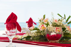 Tabellmittstycke. bröllopgarnering Royaltyfri Bild