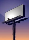 Tabellone per le affissioni al tramonto Fotografie Stock