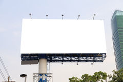Tabellone per le affissioni all'aperto in bianco Immagine Stock