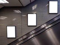Tabellone per le affissioni in bianco Fotografie Stock