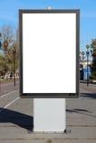 Tabellone per le affissioni in bianco Immagini Stock Libere da Diritti
