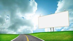 Tabellone per le affissioni in bianco video d archivio