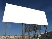 Tabellone per le affissioni in bianco Immagine Stock Libera da Diritti