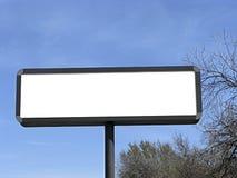 Tabellone per le affissioni in bianco. fotografia stock libera da diritti