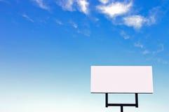 Tabellone per le affissioni bianco Fotografia Stock