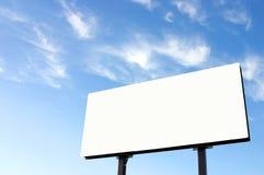Tabellone per le affissioni bianco Immagine Stock Libera da Diritti